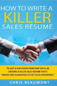write a sales resume